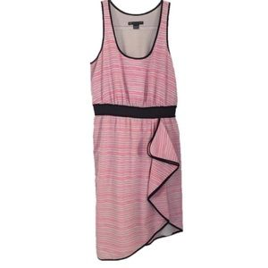 A/X Armani Exchange Striped Ruffle Tank Dress